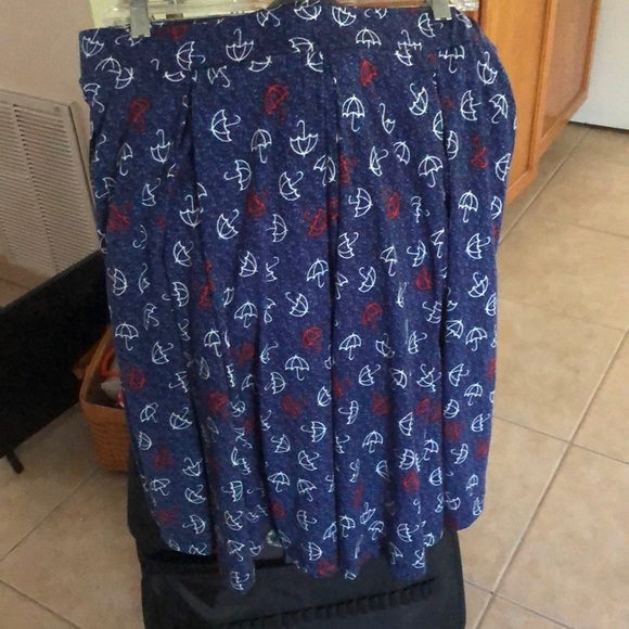 LuLaRoe Umbrella Blue - White - Red